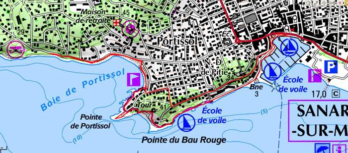 carte-ign-rando-sanary-sur-mer