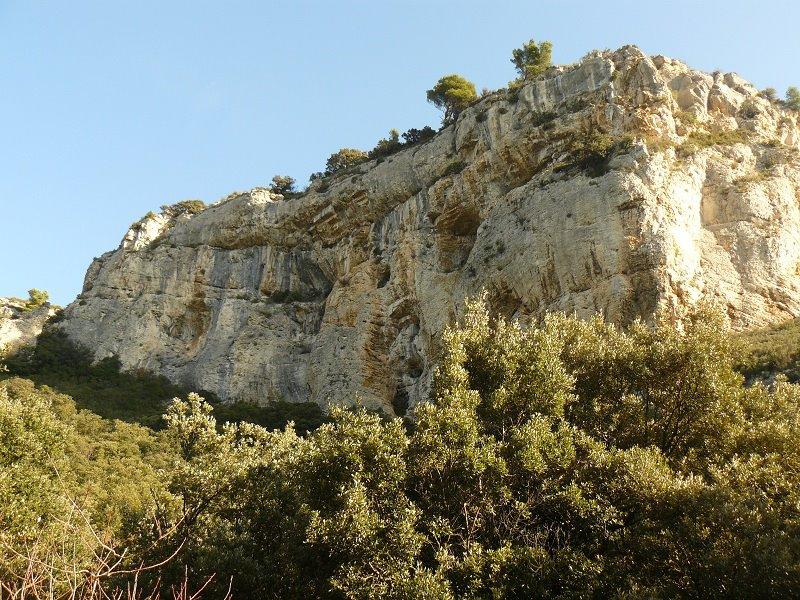 Gorges Régalon, les falaises