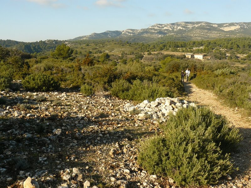Sentier de retour vers Croupatas