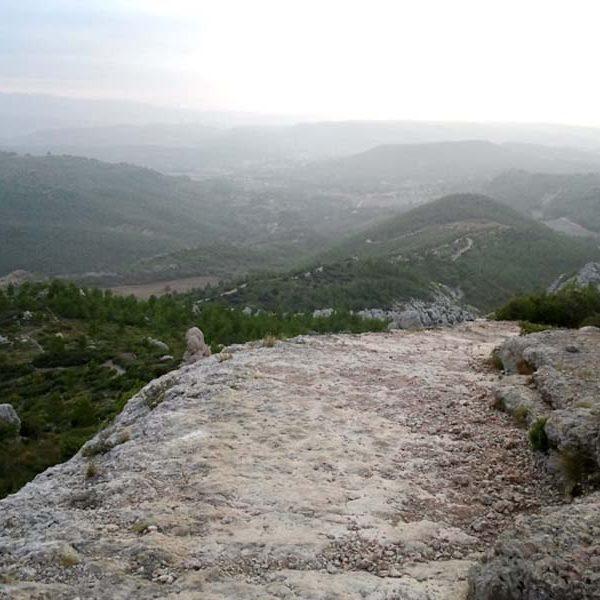 sainte-victoire sentier vers le Pas de l'Escalette