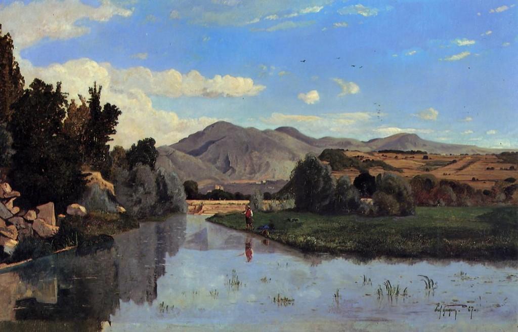 Peinture de Guigou Paul l'Aiguebrun à Lourmarin
