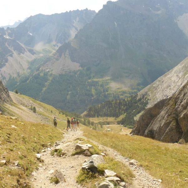 Descente vers l'Alpe du Lauzet