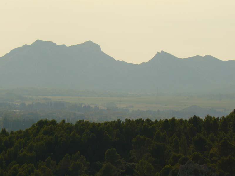 Vue sur les Alpilles