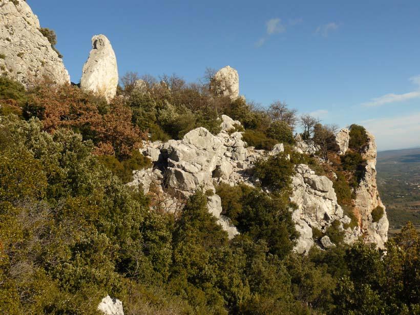 Au loin le promontoire où est implanté le refuge Baudino