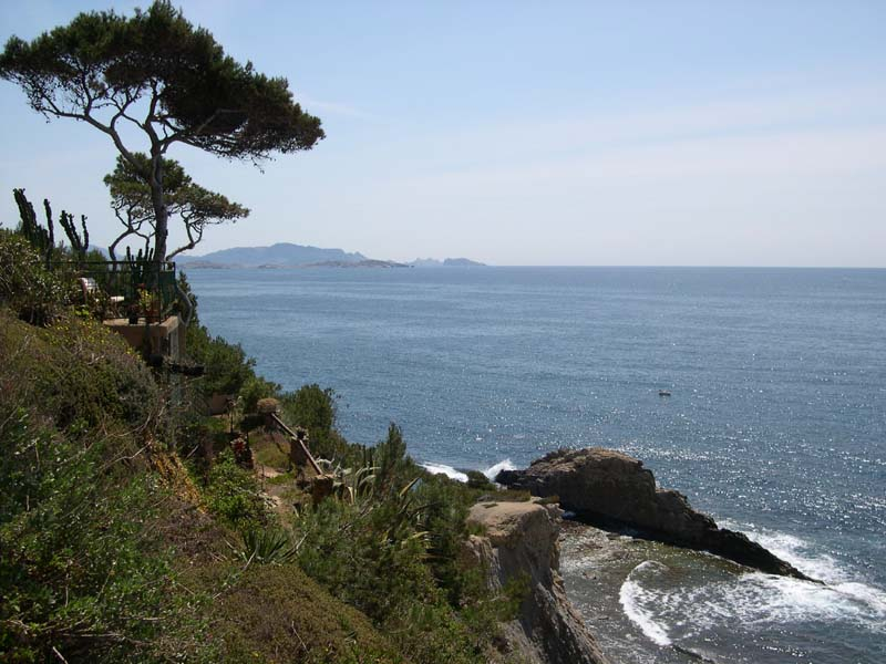 Vue sur Marseille Calanque des Anthénors