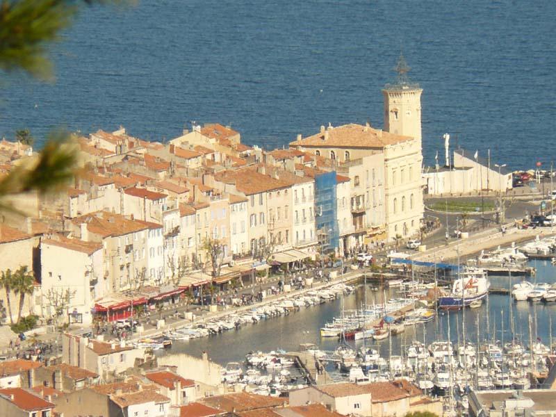 Le port de la Ciotat depuis le sémaphore