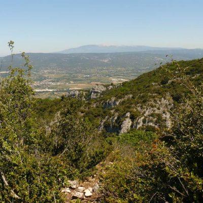 Le Mont Ventoux depuis les crêtes du Luberon