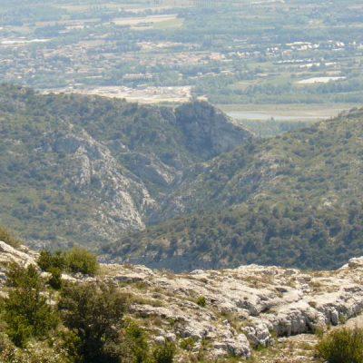 Les gorges du Régalon depuis les crêtes du Luberon