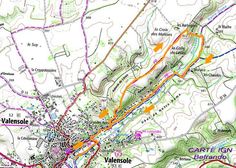 randonnée valensole-carte-ign