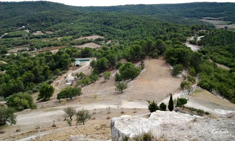 la bergerie vue depuis l'ancien opidum.