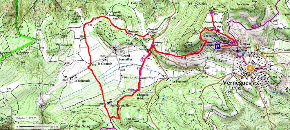 tracé balade carte-ign-vernegues-ouest