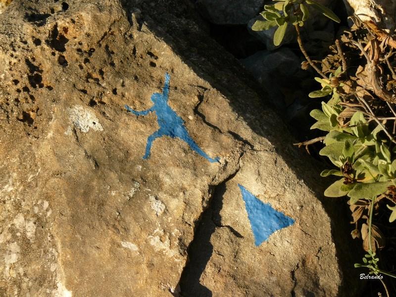tracé bleu vers le site d'escalade