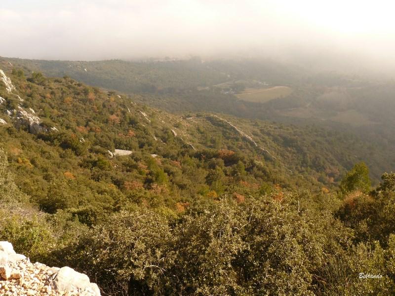 plaine vue depuis le sentier menant à baudino