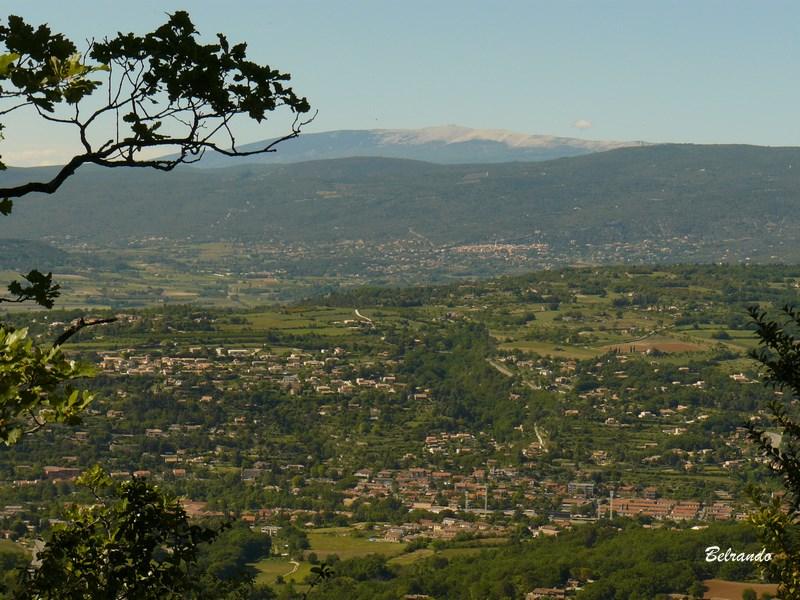 La plaine d'Apt et le mont Ventoux
