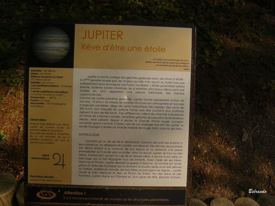 Sentier planétaire panneau Jupiter