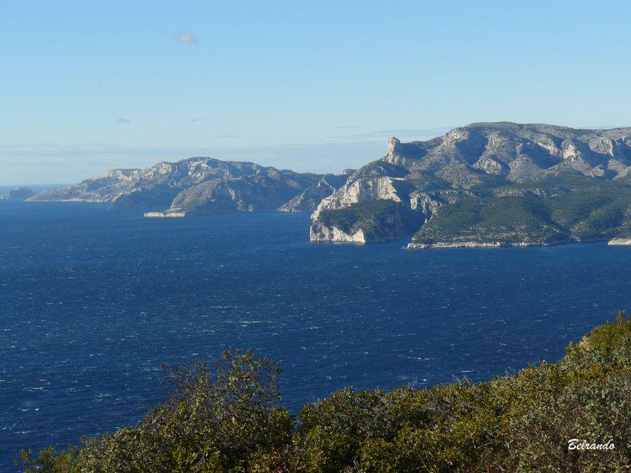 Les calanques de Marseille et Cassis.