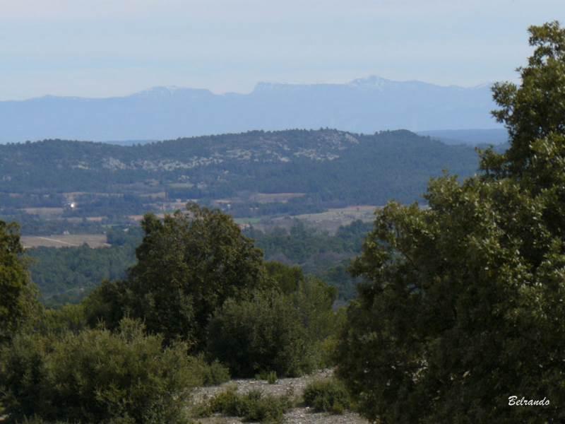 vue arrière sur le Mourre de Chanier et le Chiran
