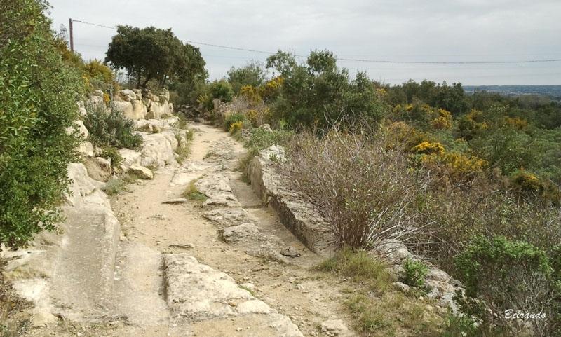 La fameuse voie romaine que l'on suit pendant quelques minutes
