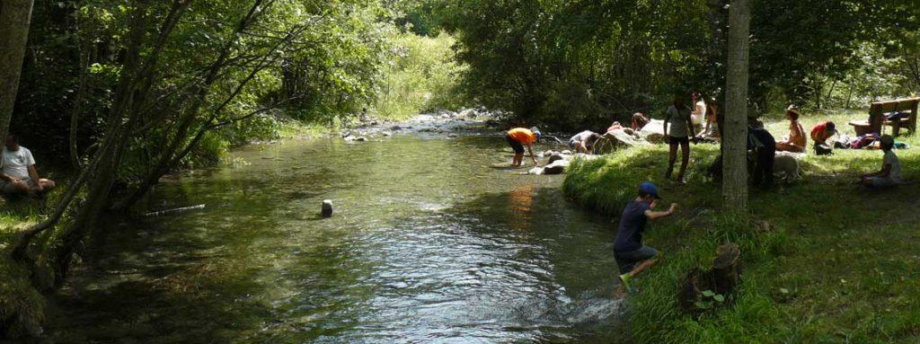 rivière le drac et baigneurs