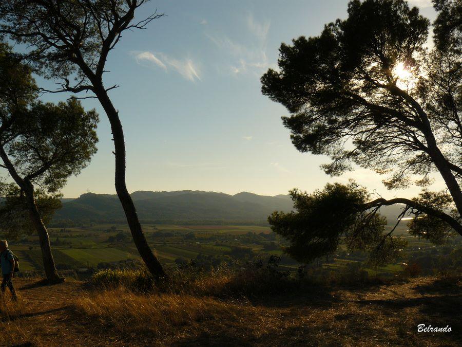 Vue sur le massif des Côtes dominant la Roque d'Anthéron et charleval.