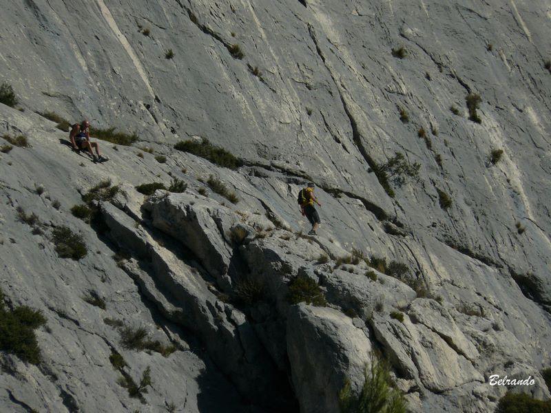 Falaises et grimpeurs