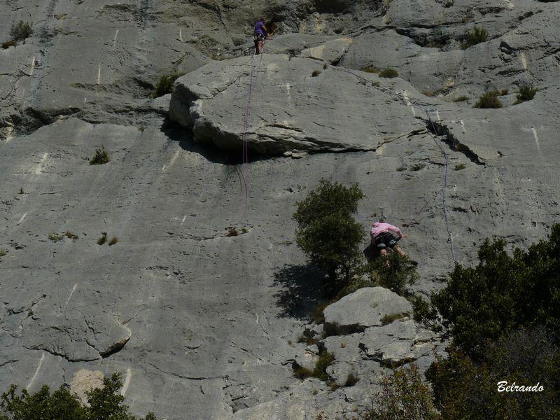 Falaise et grimpeurs