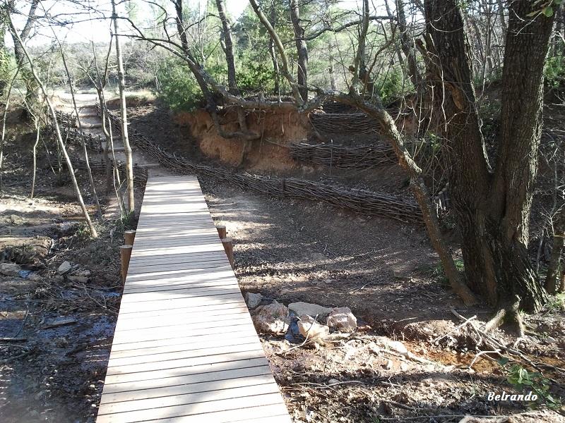sainte victoire passage pont de bois