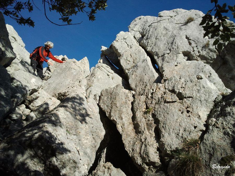 Second passage rocheux et sa petite descente.