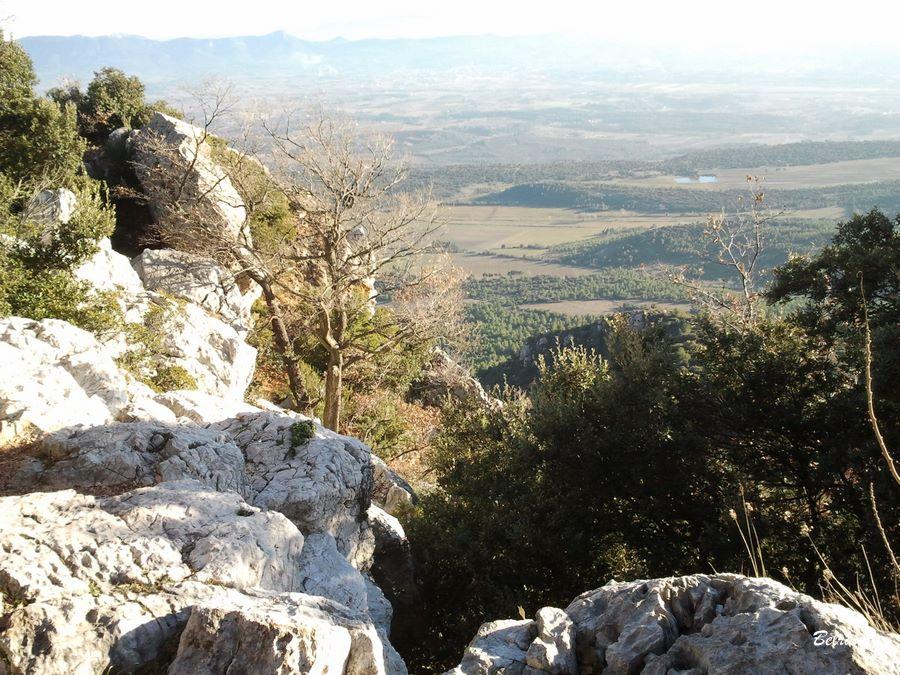 Vue au sud depuis le refuge. Auloin le Mont Olympe.