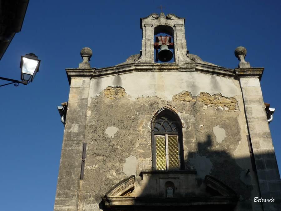 La partie supérieure de la chapelle des Pénitents