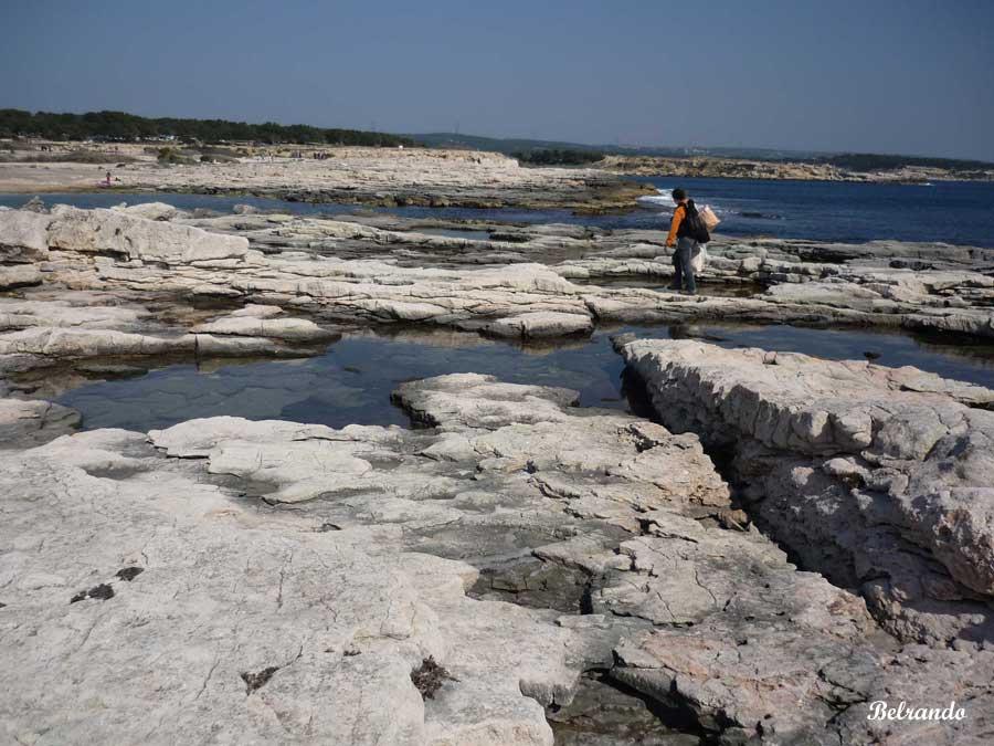 rochers et mer côte bleue