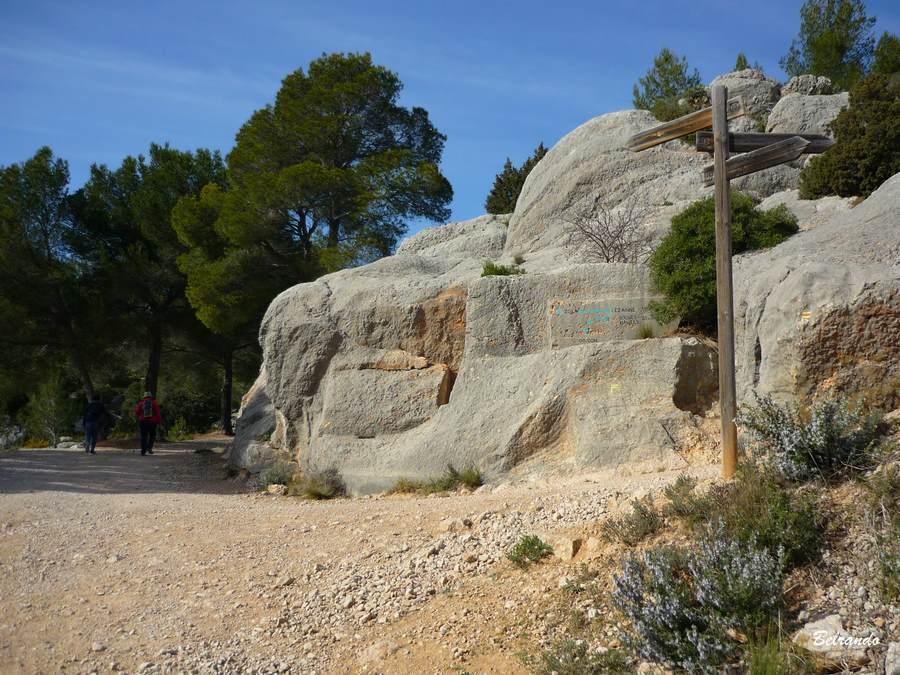 bifurcation et rochers