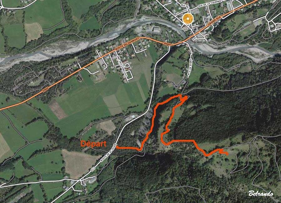 tracé du parcours sur carte google
