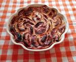 plat recette clafouti aux pommes