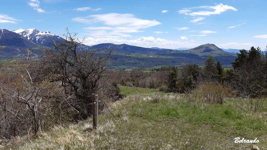 point de vue depuis la colline du Mouron